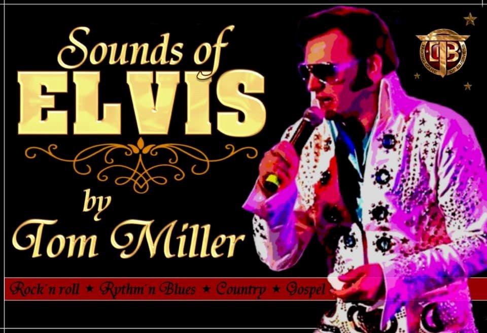 Eine Veranstaltungsankündigung für ein Elvis Double