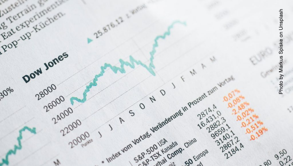 Börsenkurs in einer Zeitung