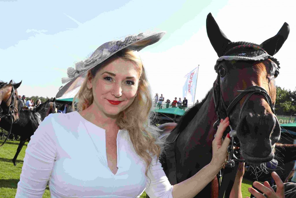 Sandra Quadflieg mit Pferde
