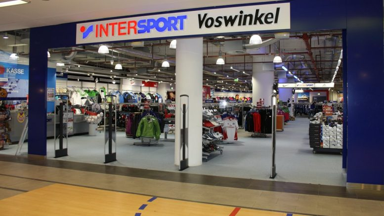 Ladenansicht der Filiale von Intersport Voswinkel in der Hamburger Meile