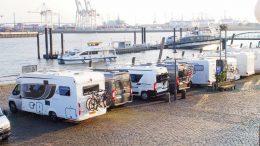 #vanlife: Wohnmobile können für eine Nacht direkt am Hafen parken bzw. übernachten