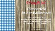 Plakat für das Oktoberfest in der BallinStadt Hamburg
