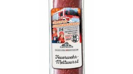 Etikett der Edeka Feuerwehr-Mettwurst