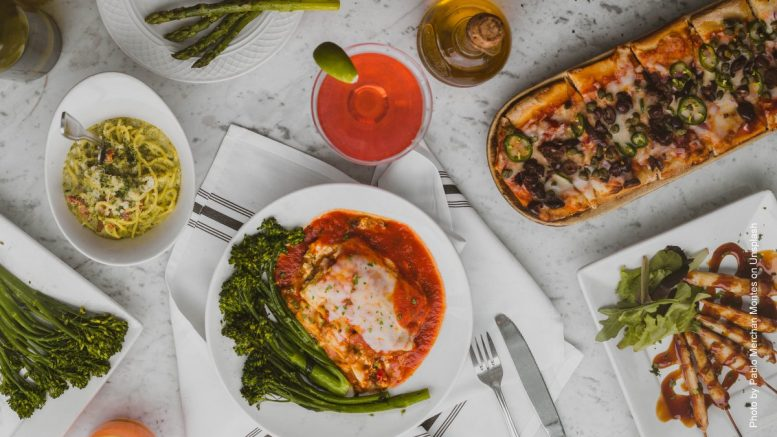 Eine Auswahl original italienischer Speisen im Restaurant