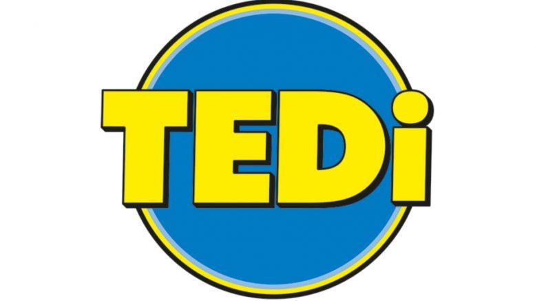 Logo vom Nonfood Discounter TEDI - blau und gelb