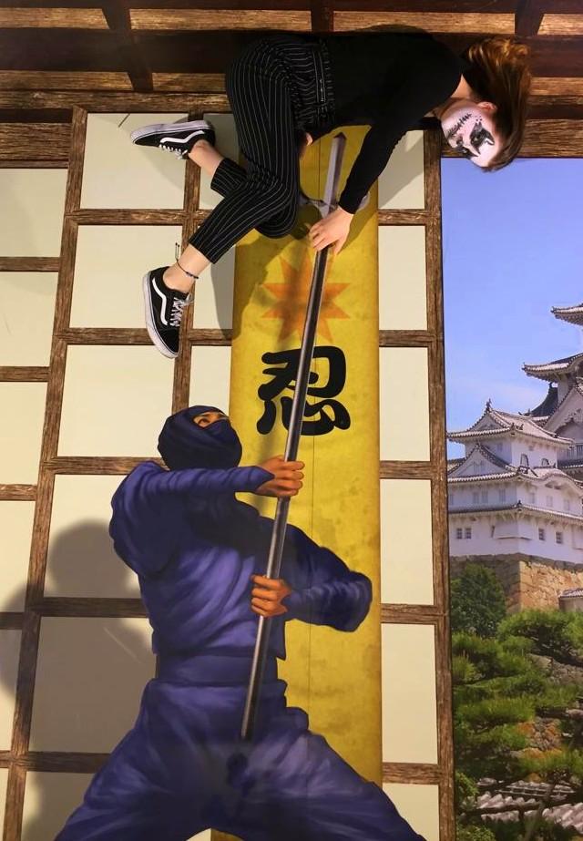 Motiv Ninja Kampf im Mindways 3D Trickart Museum