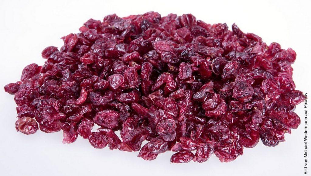 getrocknete Cranberry auf einem Haufen