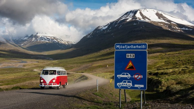 Bulli T1 in der Island