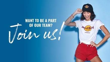 Das Hamburger Hard Rock Cafe sucht neue Mitarbeiter