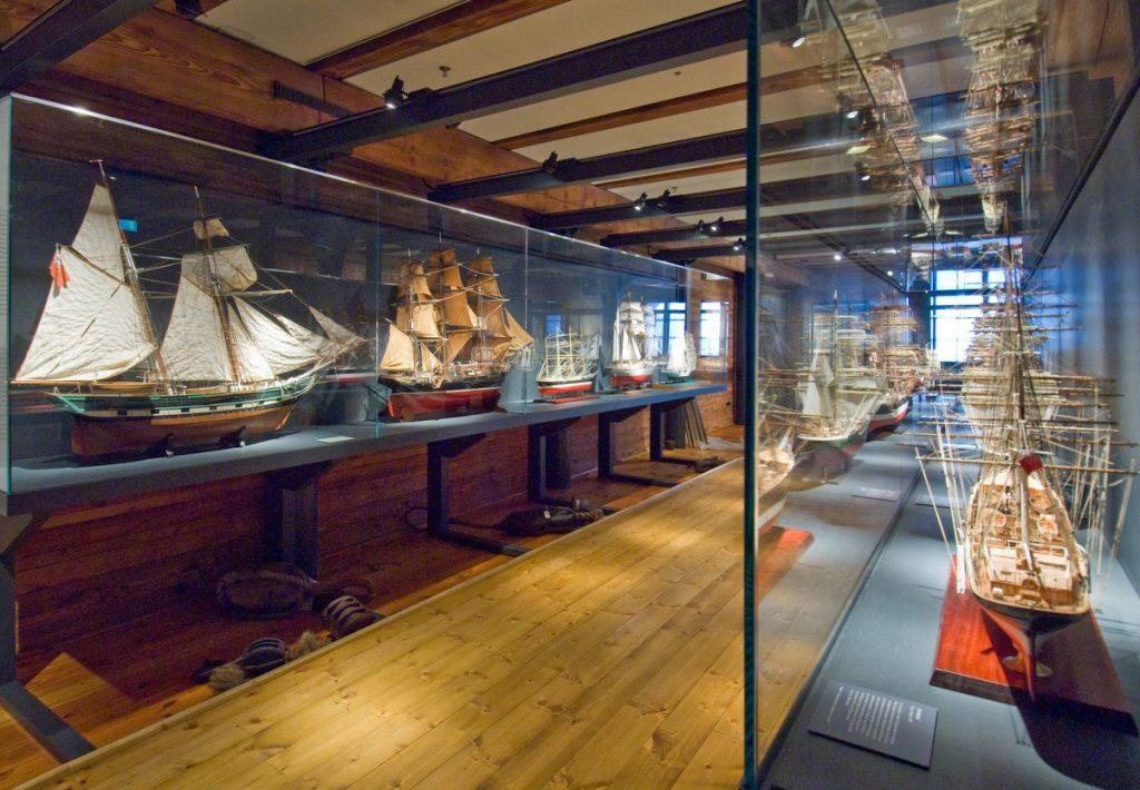 Schiffsmodelle im Internationalen Maritimen Museum Hamburg