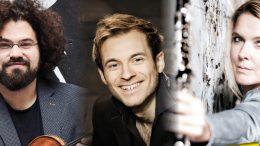 Die Musiker Jonian-Ilias Kadesha, Martin Klett, Sabine Grofmeier