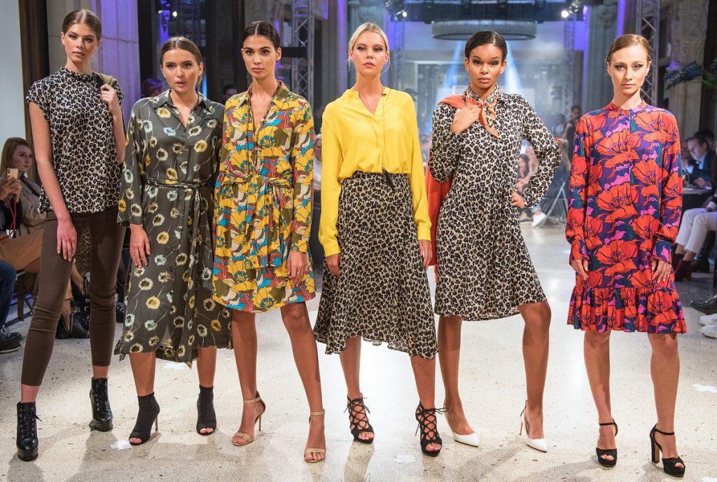 Fashion sechs Modells