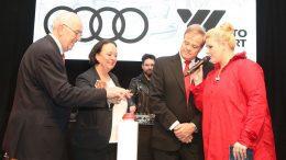 Startschuss für den Audi terminal von Auto Wichert - Gruppenaufnahme