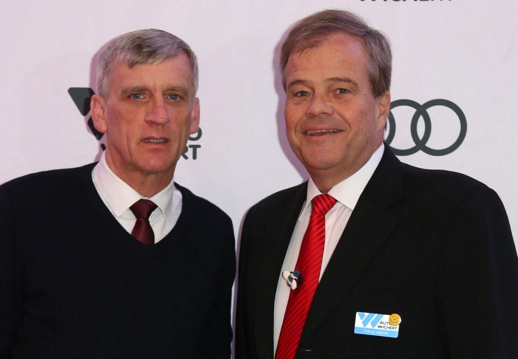 Staatsrat Dr. Sevecke mit Bernd Glathe