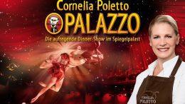Ankündigungsplakat für die Cornelia Poletto Dinnershow