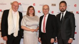 Prof. Dr. Dieter Lenzen, Katharina Fegebank, Peter Tschentscher (Erster Bürgermeister) und Steve Gätjen