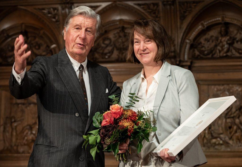 Katja Werner aus Hamburg mit Albert Darboven