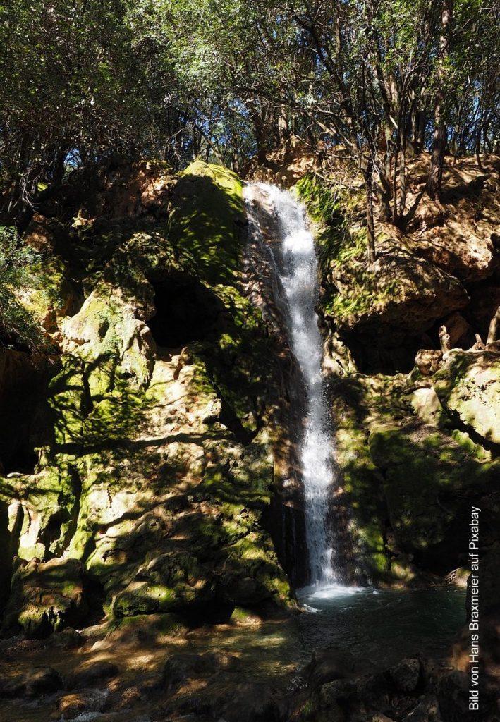 Wasserfall auf Mallorca