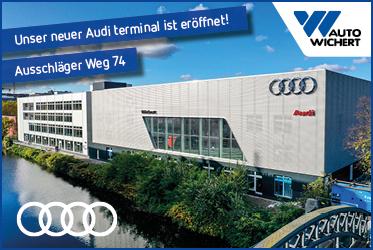 Onlinebanner Auto Wichert eröffnet Audi terminal - Haus am Kanal in Hammerbrook