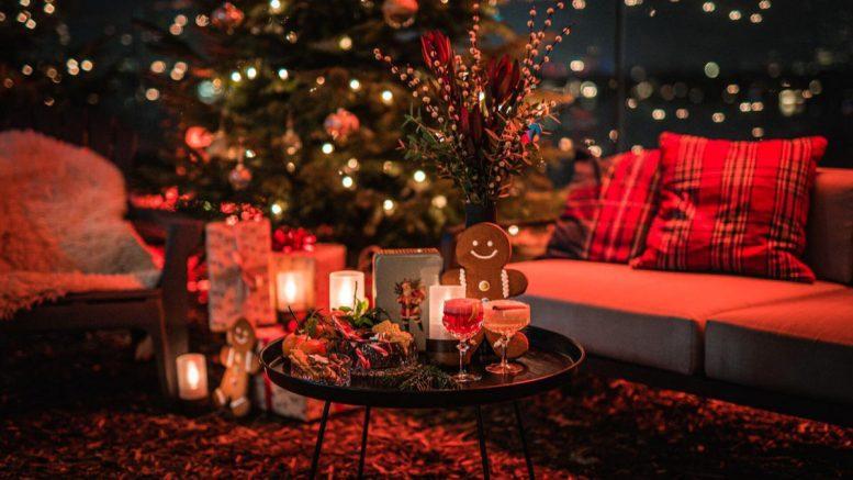 Sitzecke auf dem Weihnachtsmarkt des Le Méridien