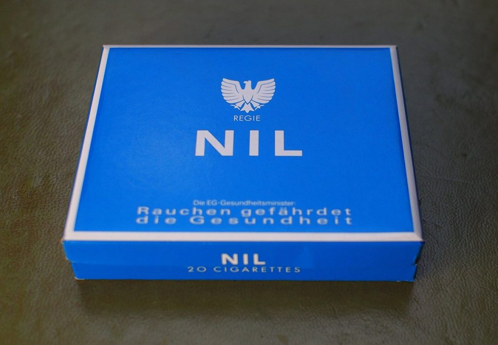 Zigarettenschachtel Nil