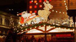 Bude auf dem Santa Pauli Weihnachtsmarkt