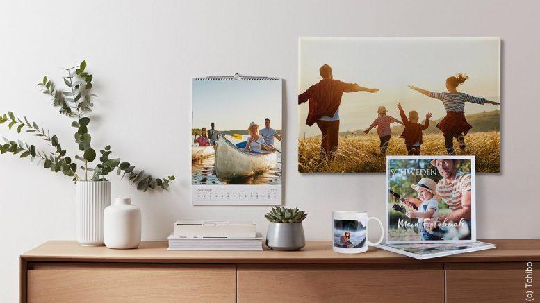 Foto, Footkalender auf einem Sideboadt