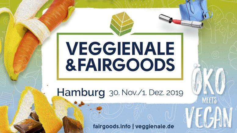 Messeplakat Veggienale & Fairgoods in Hamburg