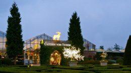 Garten von Ehren weihnachtlich geschmückt
