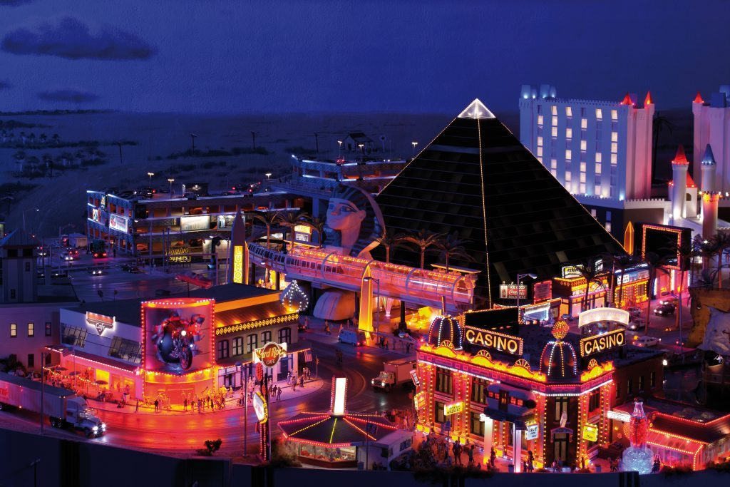 Las Vegas bei Nacht im Modell