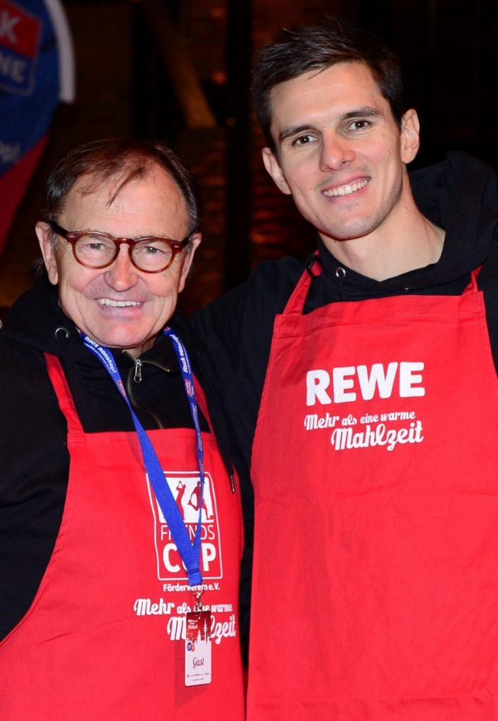 Ewald Lienen mit Johannes Flum