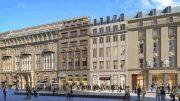 Die Shopping Passage Alter Wall Hamburg -Architektursimulation