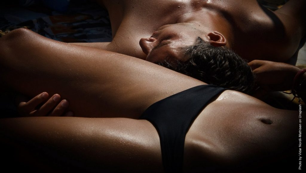erotisches Paar Mann und Frau