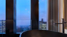Ausblich auf Hamburg vom Skyview Zimmer