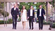 Vier Pianisten in New York auf der Straße