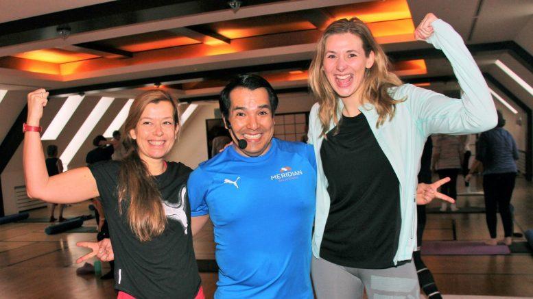Petra Frank, Trainer Diego Andrea Gerhard im Meridian Spa & Fitness Eppendorf