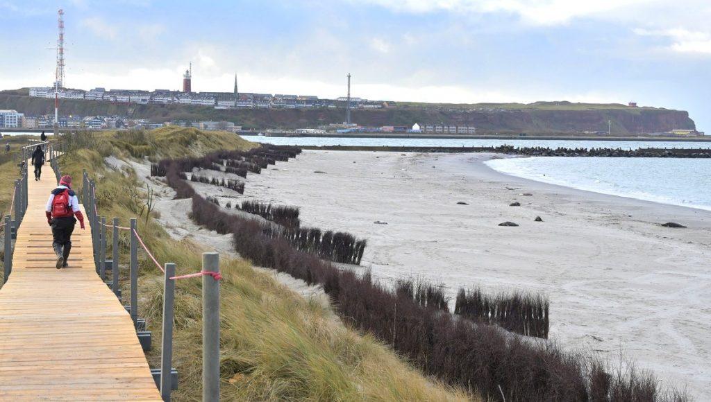 Der Panoramaweg auf der Helgoländer Düne