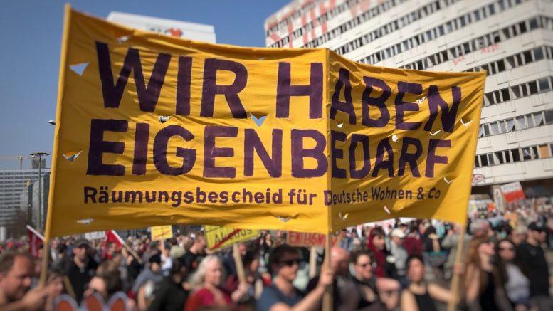 Demonstation in Berlin gegen hohe Mieten