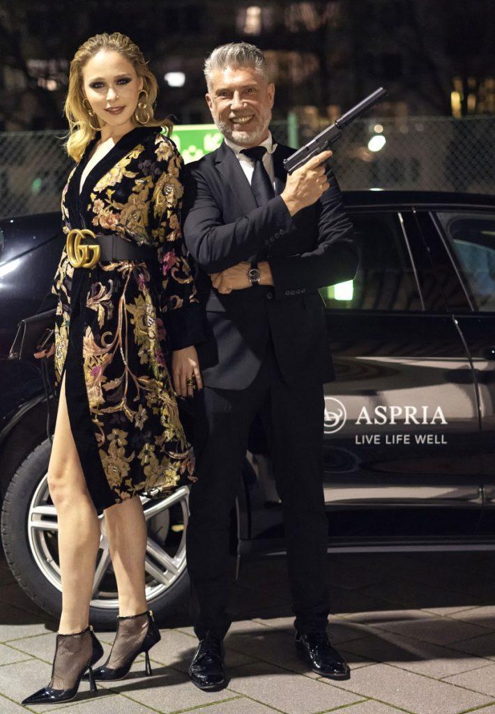 Vor Shuttle der Aspria James Bond Party