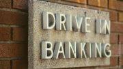 Drive in Banking Schild