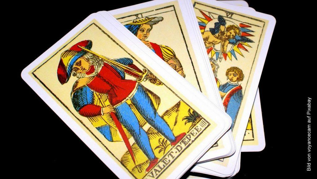 vier Tarotkarten