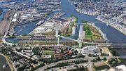 Perspektiventwurf von Hamburg Grasbrook