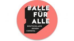 Kampagnenlogo der Aktion #AllefürAlle - Schriftzug