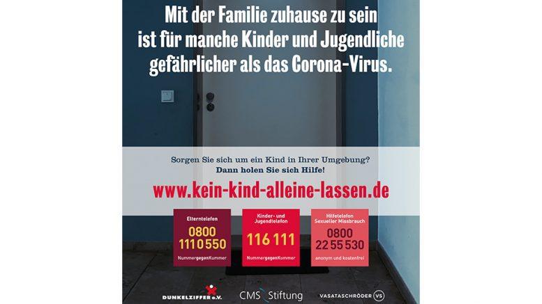 Plakat von Dunkelziffer eV gegen Kindesmissbrauch