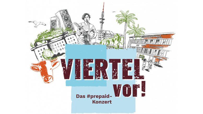 Veranstaltungshinweis auf dasPrepaid Konzert der Rindermarkthalle Hamburg: Viertel vor