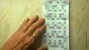 Bingo-Karte mit Hand