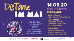 Banner für die Veranstaltung DisTanz im Mai