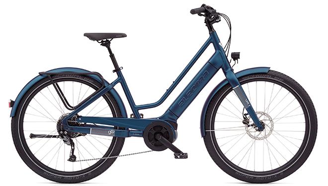 Ein Electra Vale Go E-Bike in Blau