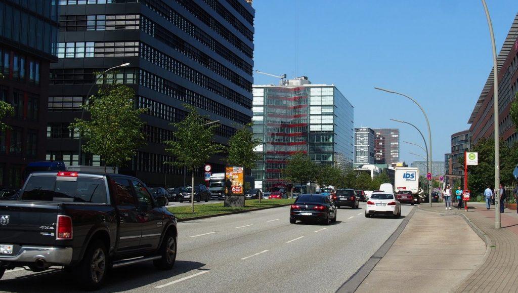 Heidenkampsweg Straßenszene in Hamburg