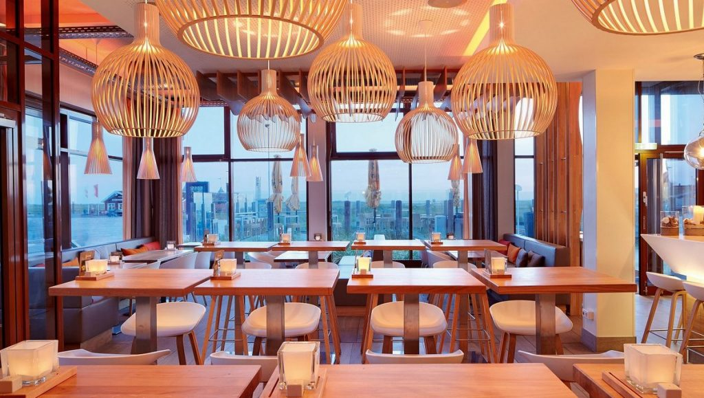 Restaurantansicht Deichkind im Strandgut Ressort st. Peter Ording